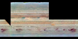 23 July 1994: Three-band (953, 555 and 410 nm) false color